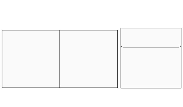 Softcover 2 Lipatan (16cm x 16cm) + Amplop